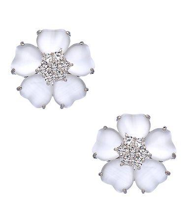 Floral CZ Earrings #maxandchloe