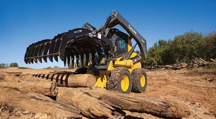 John Deere releases root rake attachments for skid steers/track loaders