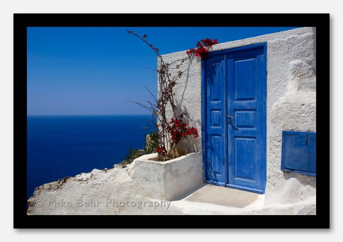 """Doorway to the Sea"" Santorini Island, Greece"