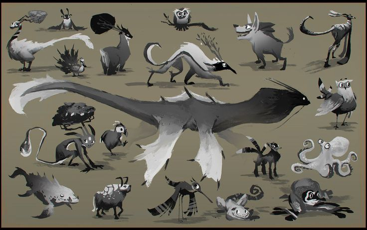 Cartoon Creatures by *EsbenLash on deviantART