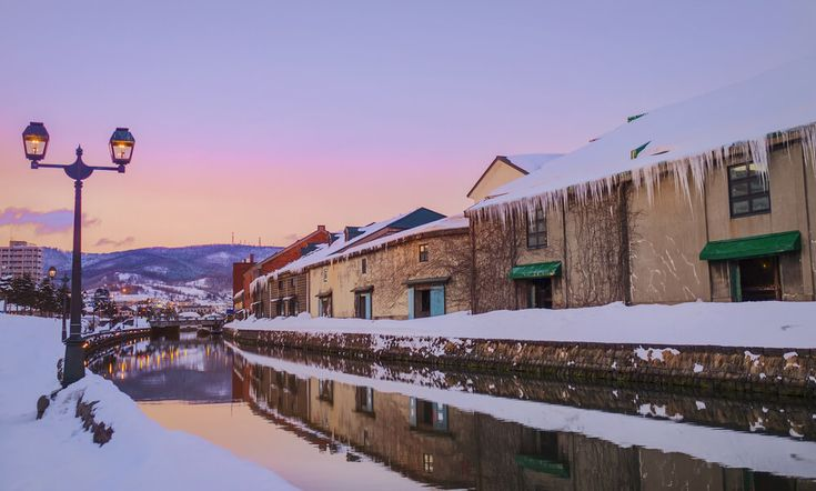 View of Otaru Canal in Winter season with Sunset, Hokkaido - Japan. [Wattention] Bringing you the best of Japan 