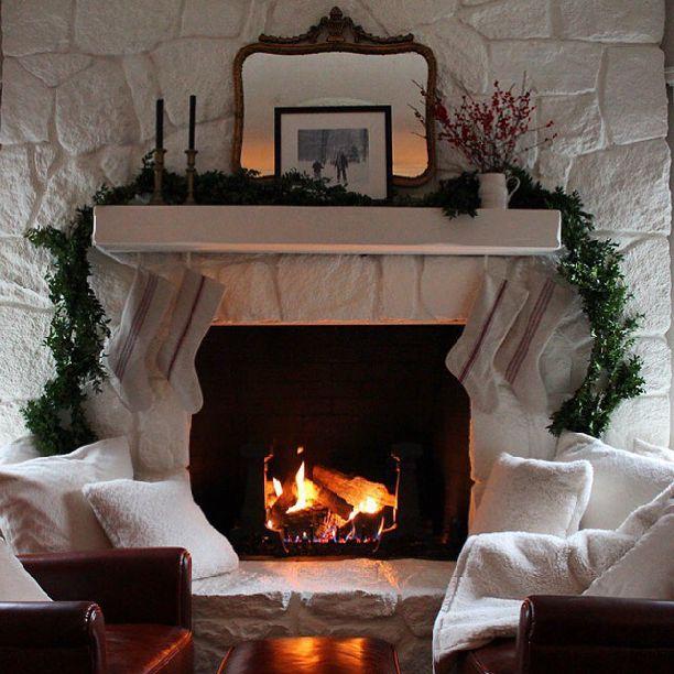 best 25 painted stone fireplace ideas on pinterest. Black Bedroom Furniture Sets. Home Design Ideas