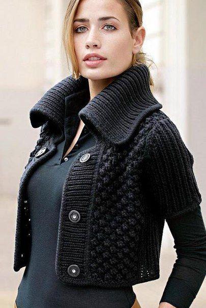 короткий жакет спицами 0 кардиганы пуловеры спицами вязание