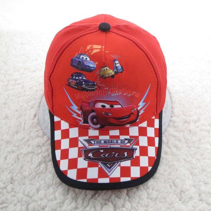 Fashion Summer Cars Hats Kids Baseball Cap Cartoon Hats