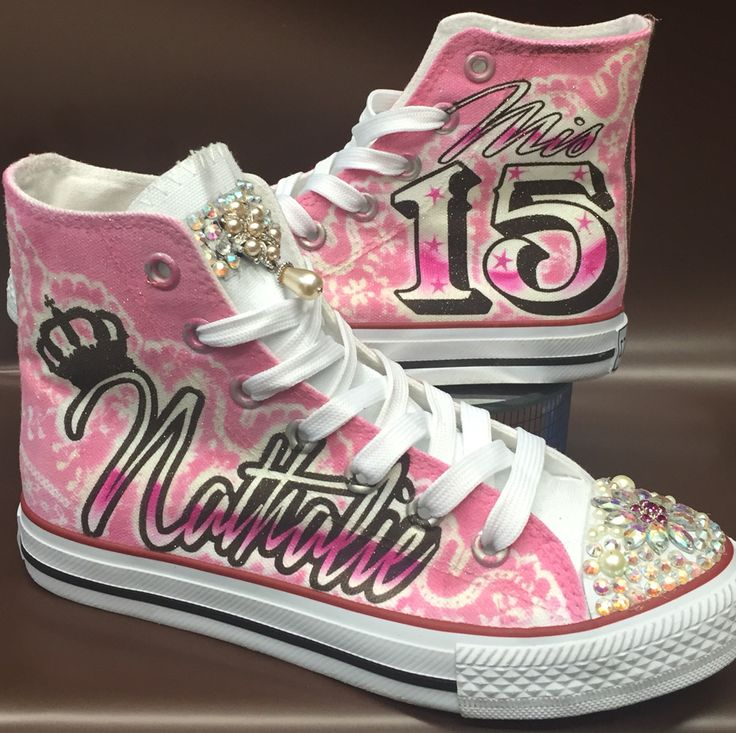 Quinceañera Shoes,Mis quince Años, custom converse, airbrush shoes art by Herby. At Airbrush Nation Studio in Los Angeles  Call today 323.456. 5243