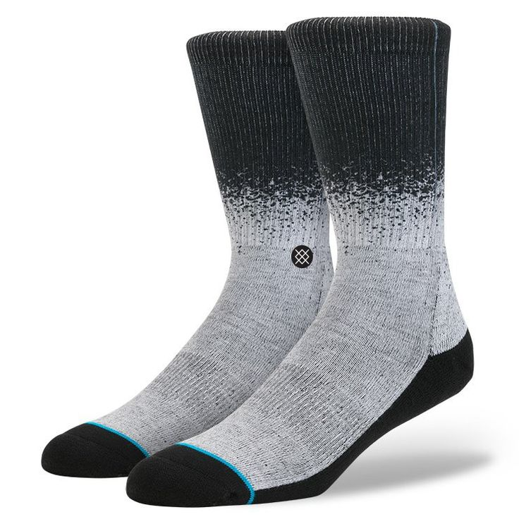 Mix things up with Stance's Dissolve. To cradle feet in comfort, this classic crew sock features premium combed cotton and medium cushioning. A reinforced heel and toe offer additional durability whil