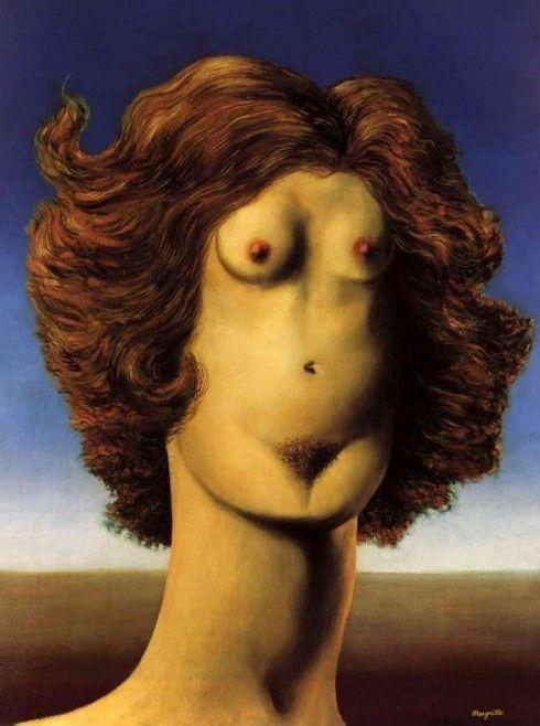René Magritte - Le viol - 1934