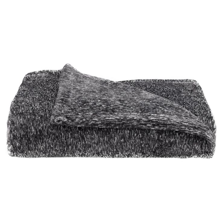 Grey Fleece Heather Throw