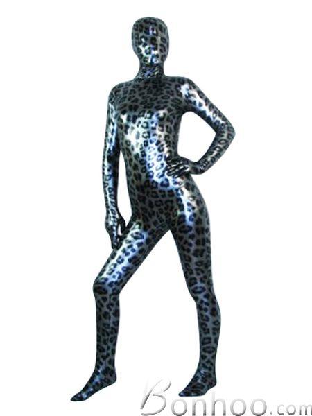 Shiny Unisex Lepard Zentai Suit