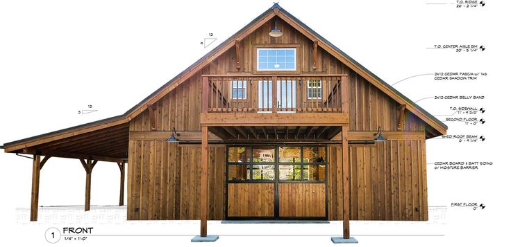 Dc structures is home to america 39 s most complete barn kits for Pole building with apartment plans