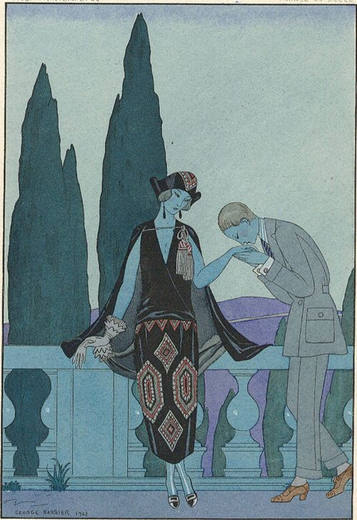 George Barbier, Le Villa d'Este, 1923