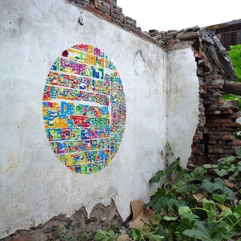 Really cool stencil art: Wall Art, Instant Hutong, Street Art, Collage, The Cities, Blink Cities, Instanthutong, Cities Environment, Streetart
