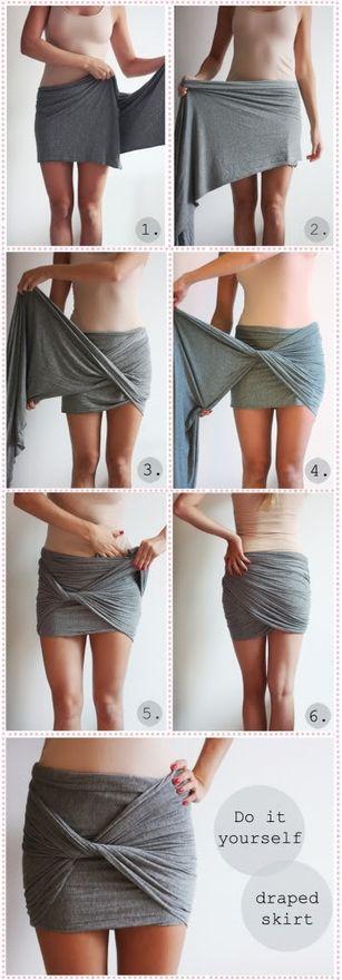 DIY draped skirt! Pretty perfect for the beach!