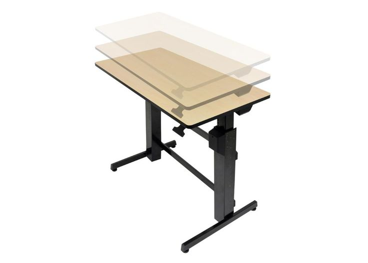 Bell O Park Edge Electric Adjustable Height Desk Workfit D