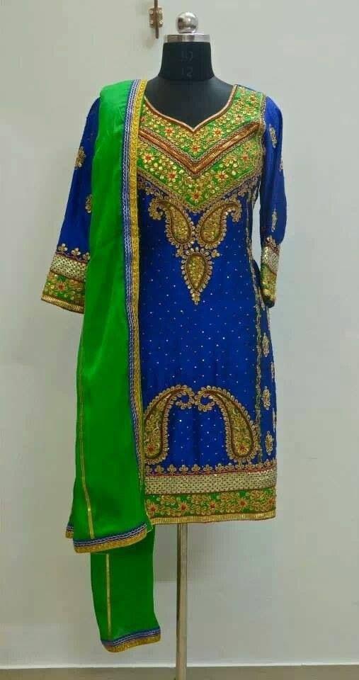 Beautiful heavy embroidery punjabi salwar suit ️