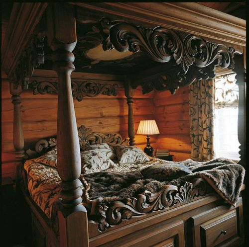 Old World Estate Bedroom Set From Art Furniture: 25+ Best Ideas About Carved Beds On Pinterest