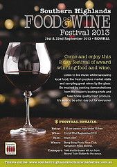 Southern Highlands food and wine festival 21st and 22nd September 2013