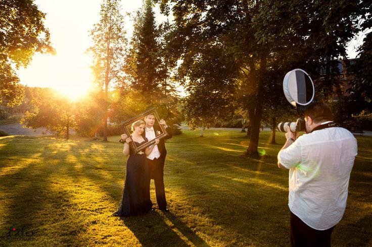 Bride & Groom golden hour portraits #finland #porvoo #summer #wedding #kialamannor #kiialankartano
