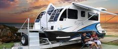BoatAhome.com.au | Boatahome - Trailerable Houseboats - — Can't find a place to legally park your Tiny House? Park a Tiny House RV/Houseboat combo on public waterways such as lakes, rivers, and bays! wink emoticon Trailer it when you want to move! via www.facebook.com/ourlittlesecretbythesea/posts/826495770798730