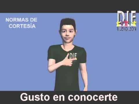 LENGUA DE SEÑAS MEXICANA  TEMA 3 NORMAS DE CORTESÍA Diccionario Español LSM