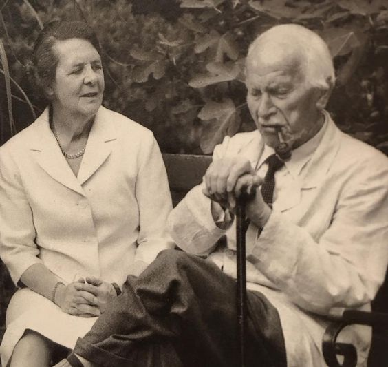 Ruth Bailey and Carl Jung.  Ruth cared for Dr. Jung after the death of Emma Jung