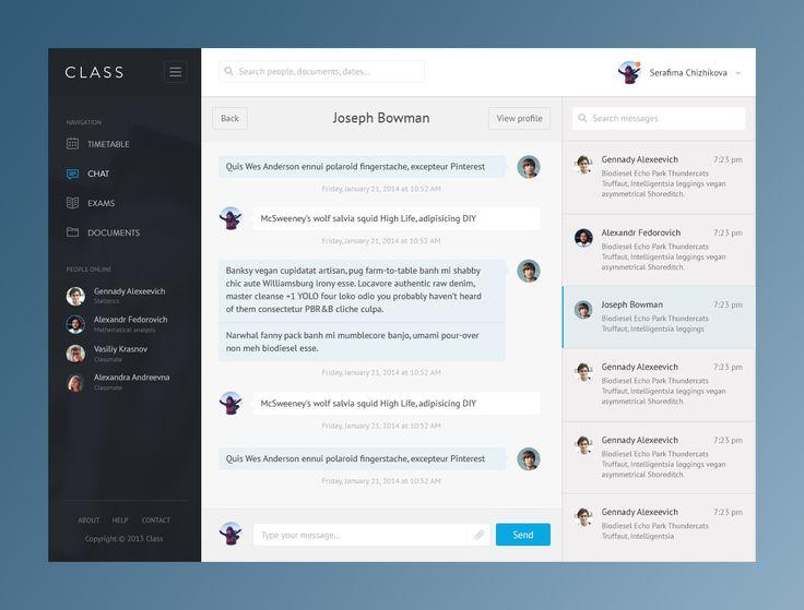 Class App Chat by Ilya Komolkin