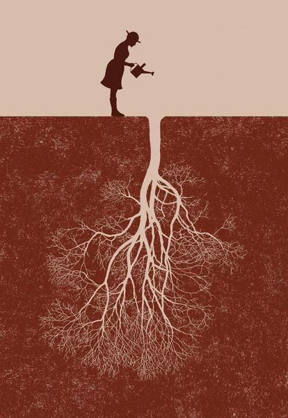 Taking Root by Robbie Porter #Illustration #Root