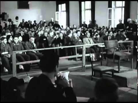 Start van het strafproces tegen Duitse Medici, NUREMBERG 1947. Straf proces tegen Duitse (NAZI) Medici die zich schuldig hebben gemaakt aan misdaden tegen de mensheid.  BEGINNING OF TRIALS AGAINST GERMAN DOCTORS, NUREMBERG