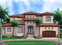 Remarkable Mediterranean House Plan - 86003BW | Architectural Designs - House Plans