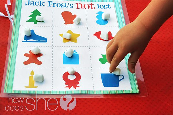 FREE printable Christmas game: Jack Frost's Not Lost.