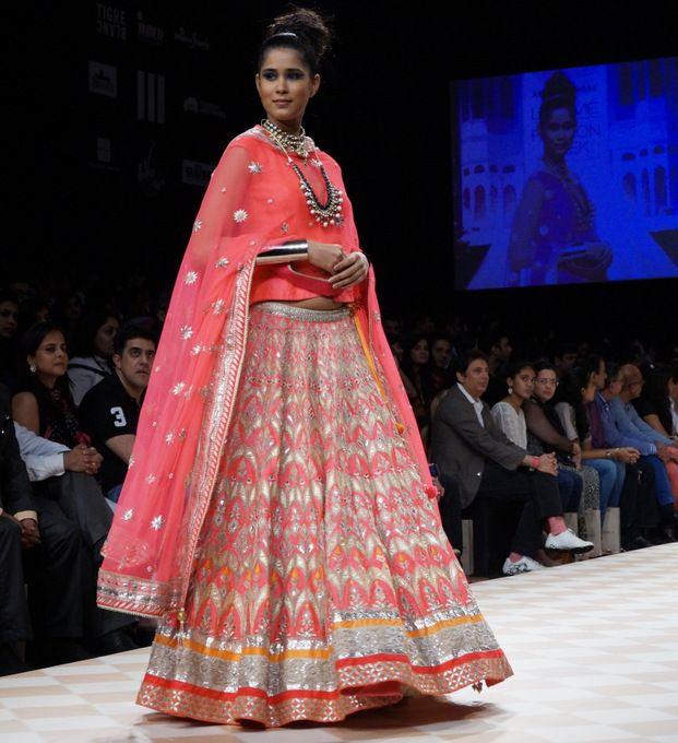 Anita Dongre at Lakme Fashion 2013 Winter Festive : The Jaipur Bride