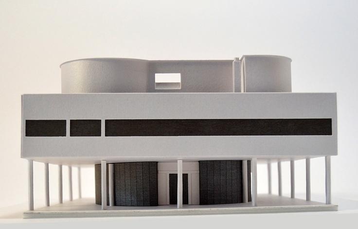 Villa Savoye model by Paperlandmarks.com