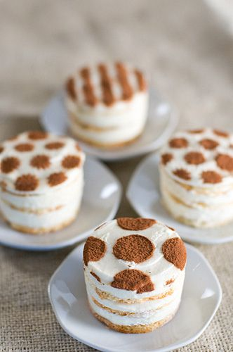 Polka dot Tiramisu - this would be fun for a shower or