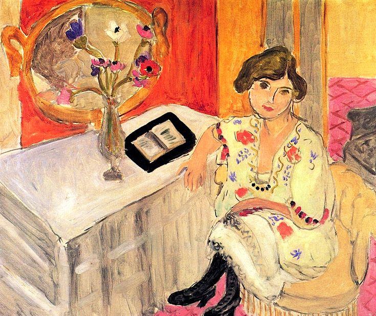 Reading Woman Daydreaming  Henri Matisse  1921