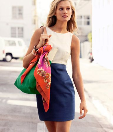 H Dress: Fashion Clothing, Business Fashion, Ties A Scarfs, Work Wear, Summer Work, Work Outfit, The Dresses, Silk Scarves, Work Dresses