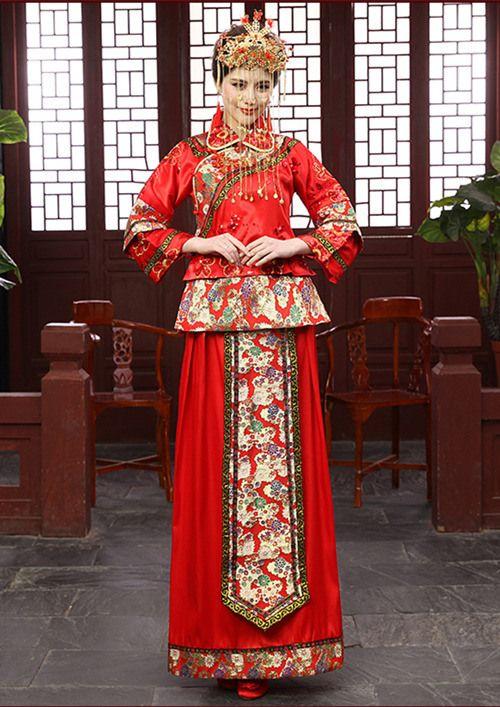 Robe de mariée rouge chinoise