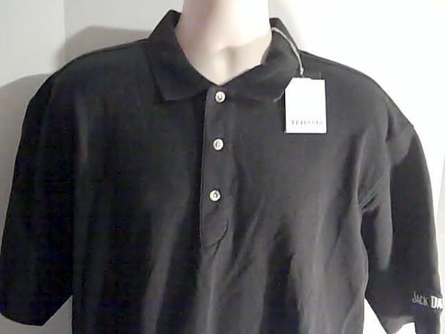 Jack Daniels Tehama Mens L Black Shirt New 100% Cotton #Tehama #PoloRugby