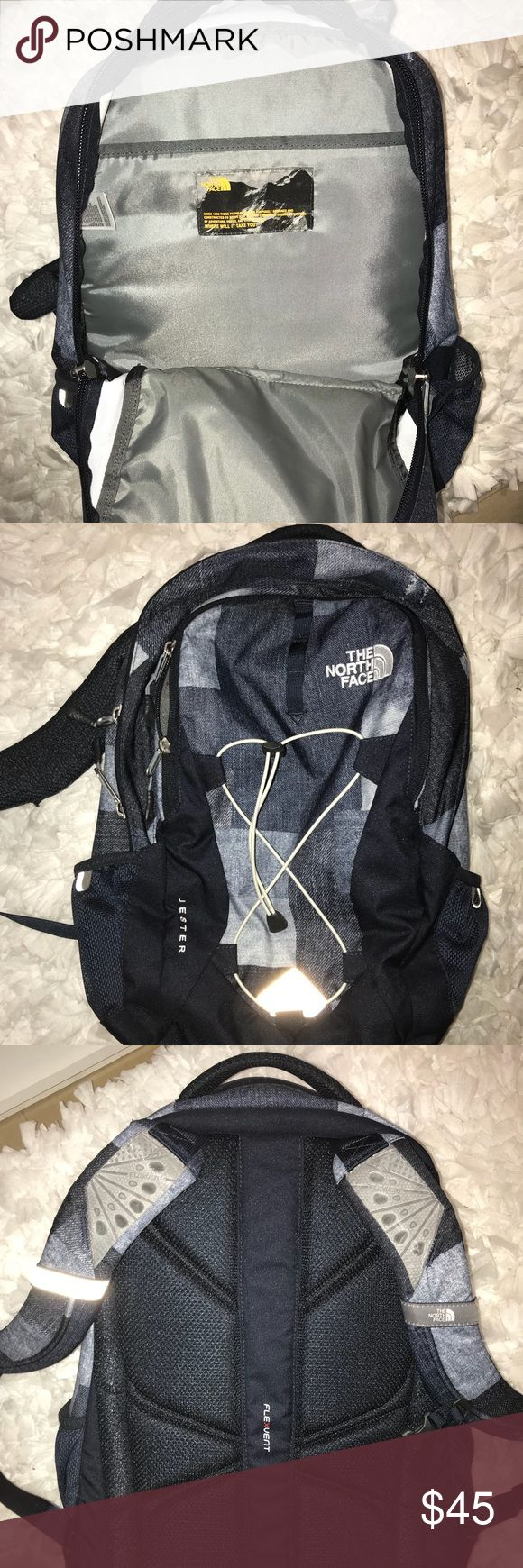 North Face Backpack Brand new! Used twice and I'm perfect condition. I just decided I wanted to use my old backpack. Navy blue/denim colors. North Face Bags Backpacks