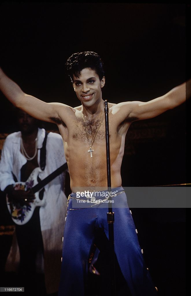 STATES - American singer and musician Prince in concert, circa 1995.