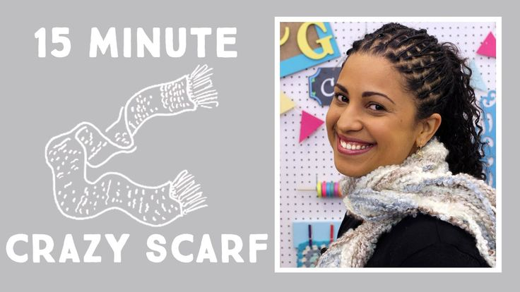 Make a Crazy Yarn Scarf in 15 Minutes! :::::::  This is the closet I'll ever get to knitting ... might have to give this a try!