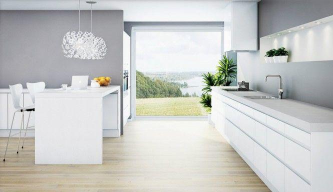 Norwegian kitchen accentuates open space