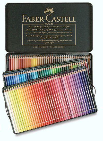 Faber-Castell Polychromos -värikynät tinarasiassa, 120 väriä