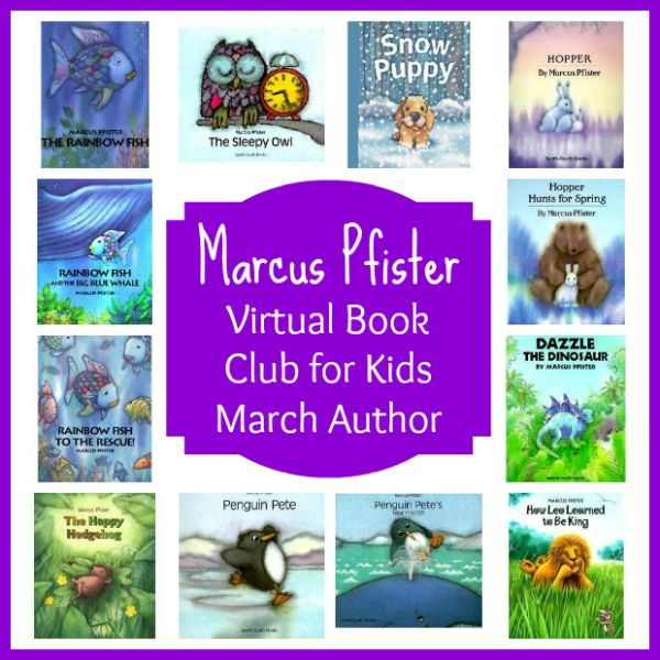 Virtual book club for kids march author is marcus pfister for Rainbow fish author