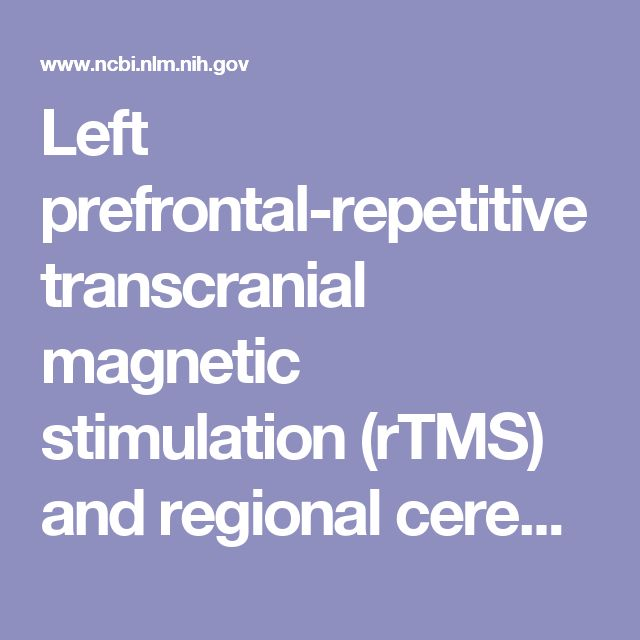 Left prefrontal-repetitive transcranial magnetic stimulation (rTMS) and regional cerebral glucose metabolism in normal volunteers.  - PubMed - NCBI