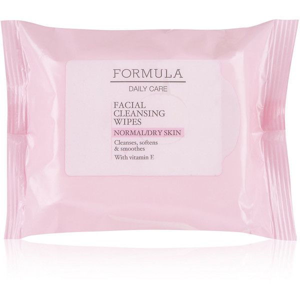 Daily Care Facial Cleansing Wipes for Normal/Dry Skin M&S (180 DOP) ❤ liked on Polyvore featuring beauty products, skincare, face care, face cleansers, beauty, fillers, makeup, dry face skin care, dry skin face cleanser and dry skin face wash