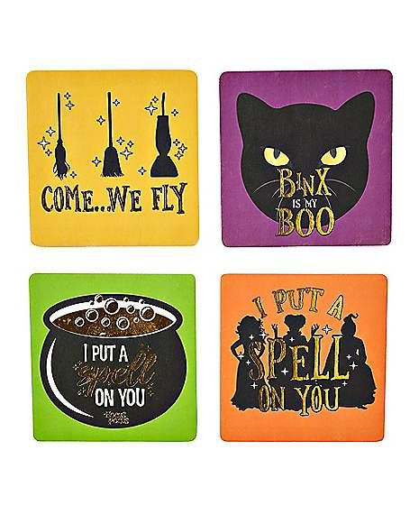 Hocus Pocus Coasters – 4 Pack  Because water stains on your coffee table are eve…
