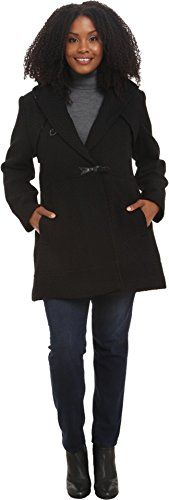 Jessica Simpson Women's Plus-Size Braided Wool Toggle Coat, Black, 1X * Be sure to check out this awesome product.