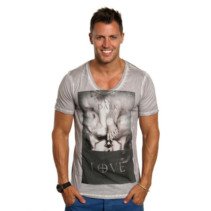 Religion Dark Love T-Shirt | Light Grey | B223DLF11 | REEM