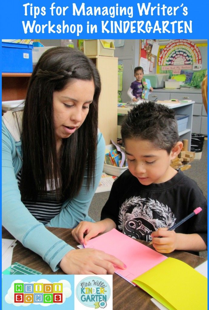 Tips for Managing Writer's Workshop in KINDERGARTEN!  This is a MUST READ post!
