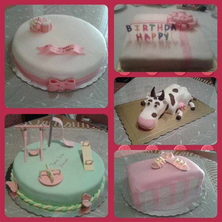 Handmade engagement cake, gift cake, cow cake, shoe box cake and playground cake!!!!!!